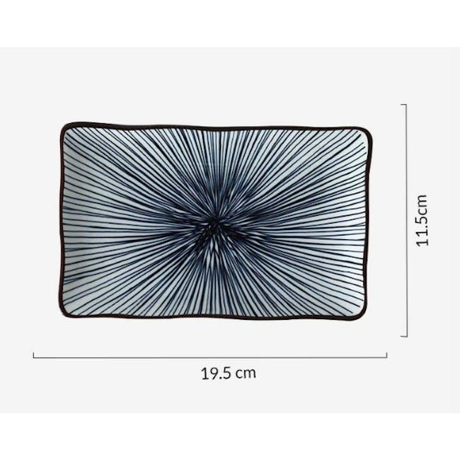 Table Matters Blue Illusion Rectangular Ripple Plate - 2