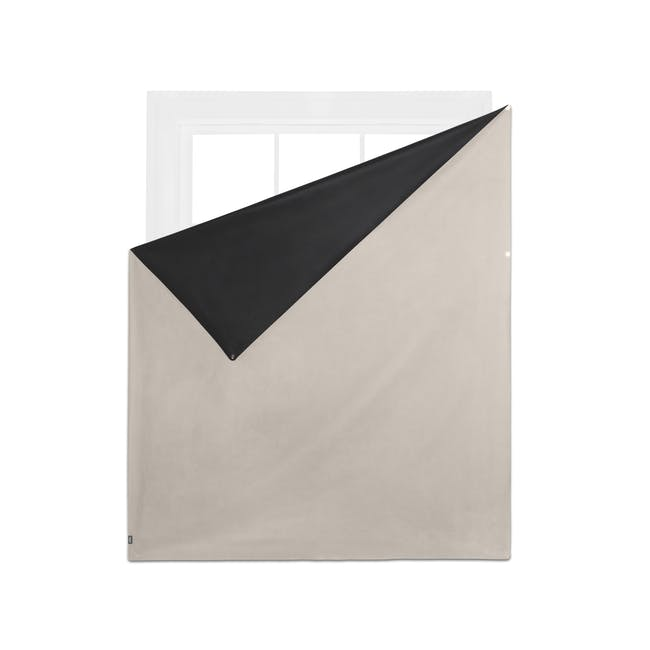 Complete Blackout Magnetic Window Cover - Linen - 7