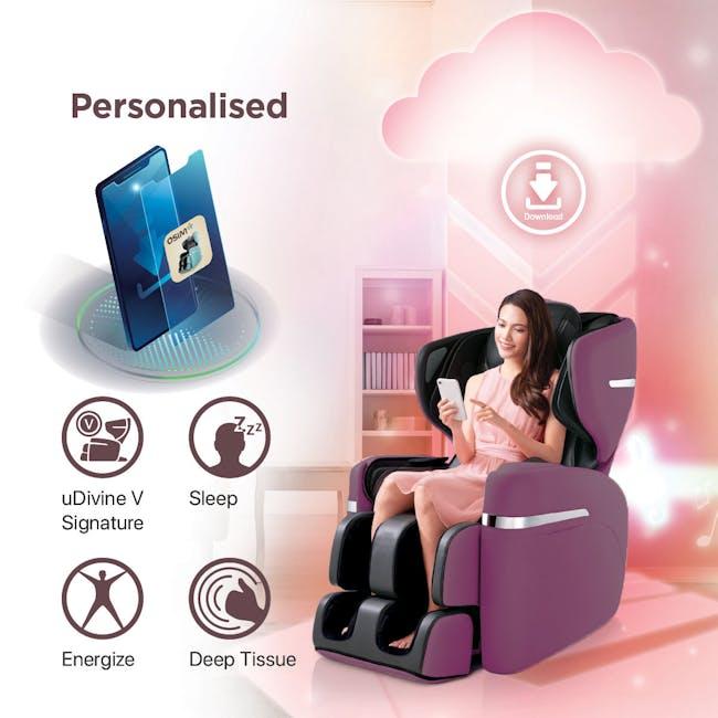 OSIM uDivine V Massage Chair - Burgundy - 3