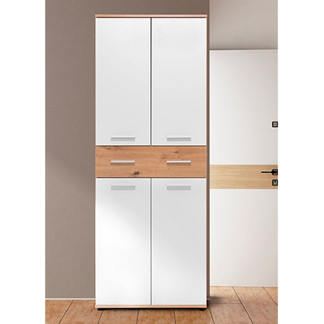 (As-is) Verona Tall Shoe Cabinet - 1 - 1