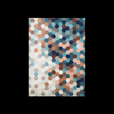 Kaleidoscope Rug (2m by 3m) - Petrol Blue - Image 1