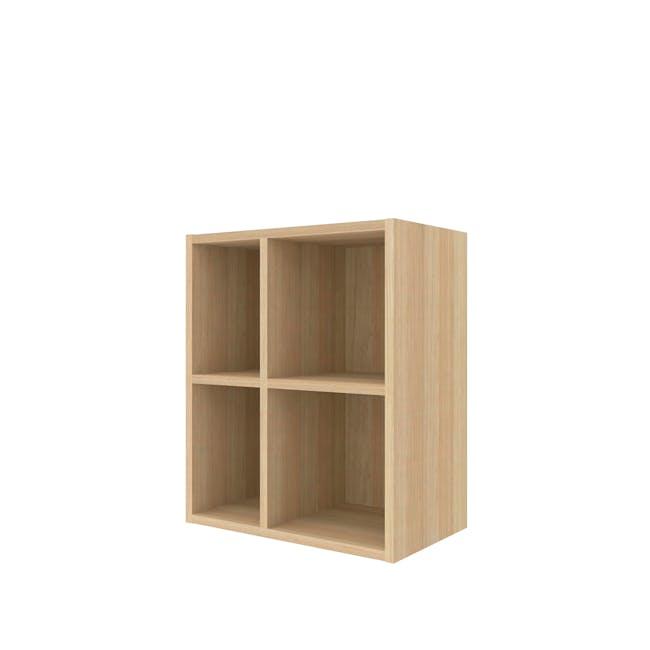 Evie 2x2 Shelf - Oak - 0