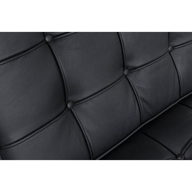 Barcelona Chair Replica - Black (Genuine Cowhide) - 15