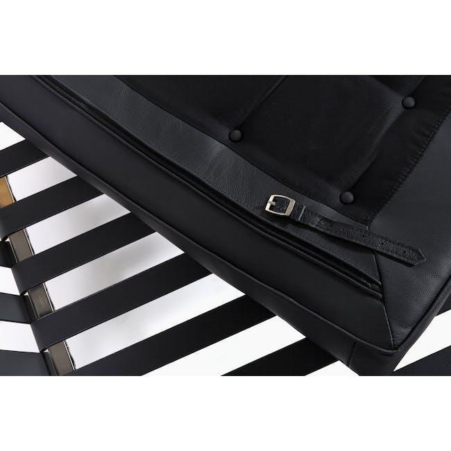 Barcelona Chair Replica - Black (Genuine Cowhide) - 14