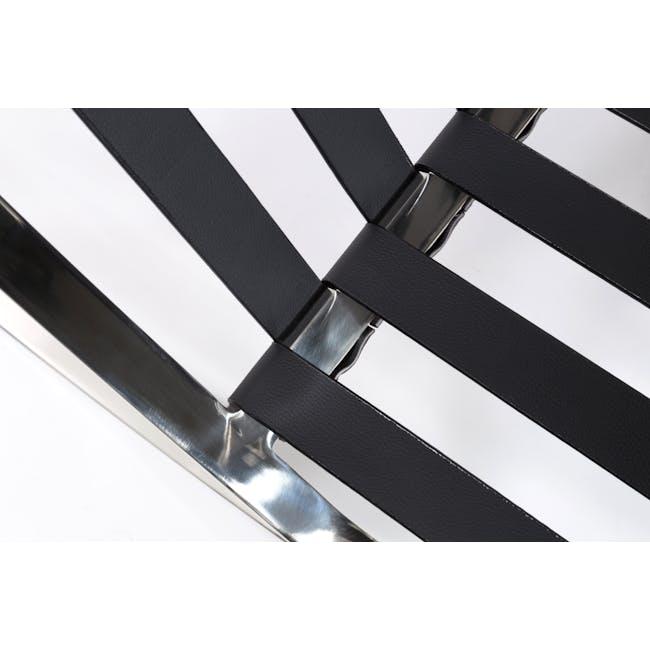 Barcelona Chair Replica - Black (Genuine Cowhide) - 4