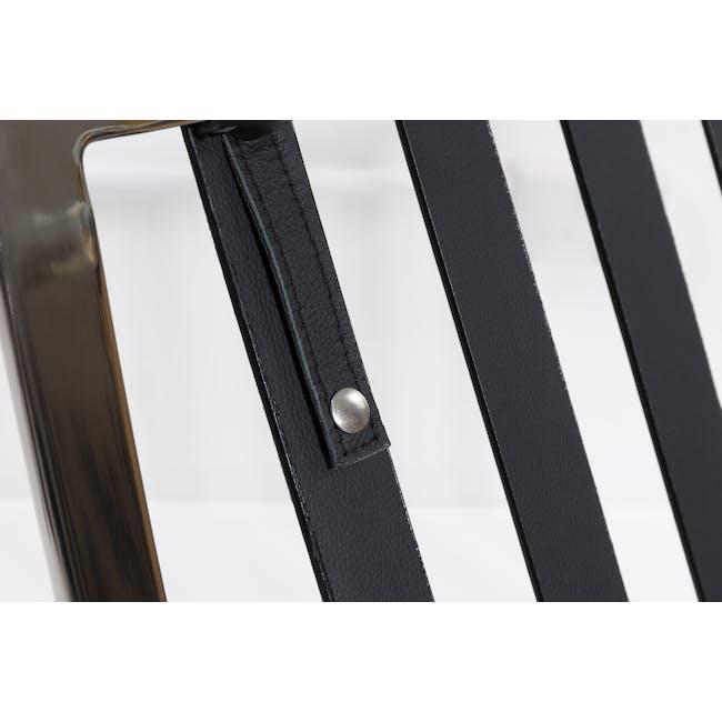Barcelona Chair Replica - Black (Genuine Cowhide) - 12