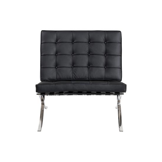 com premium vintage chair barcelona popfurniture uk pu cognac