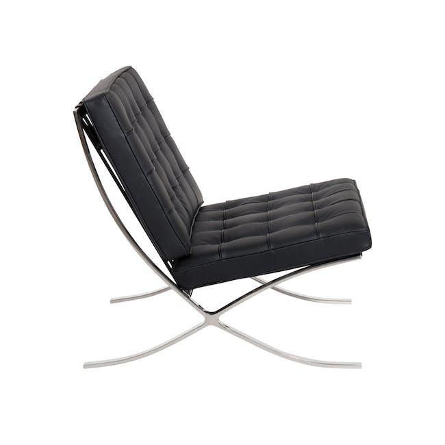Barcelona Chair with Barcelona Ottoman - Black (Genuine Cowhide) - 4