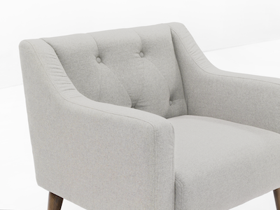 (As-is) XavierArmchair - Ivory - 1 - Image 2