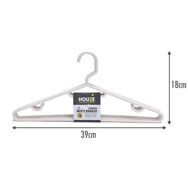 HOUZE Men's Hanger (Set of 5) - Bottega White - 1