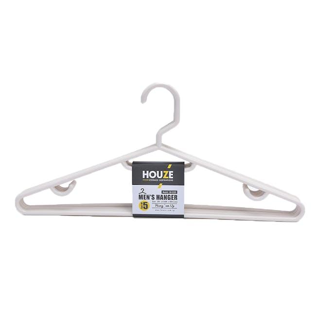 HOUZE Men's Hanger (Set of 5) - Bottega White - 0
