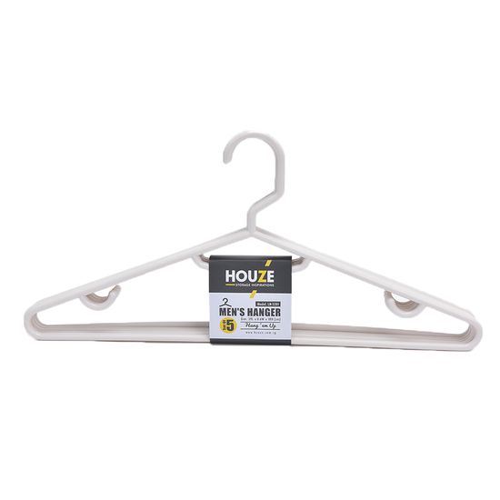 Houze - HOUZE Men's Hanger (Set of 5) - Bottega White