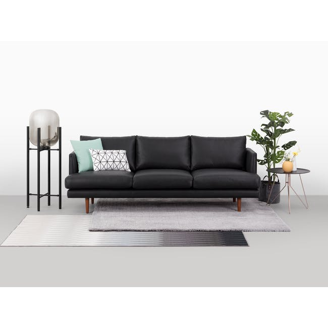 Duster 3 Seater Sofa - Charcoal (Premium Leather) - 1