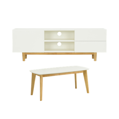 Aalto TV Cabinet with Kyra High Coffee Table - Image 1
