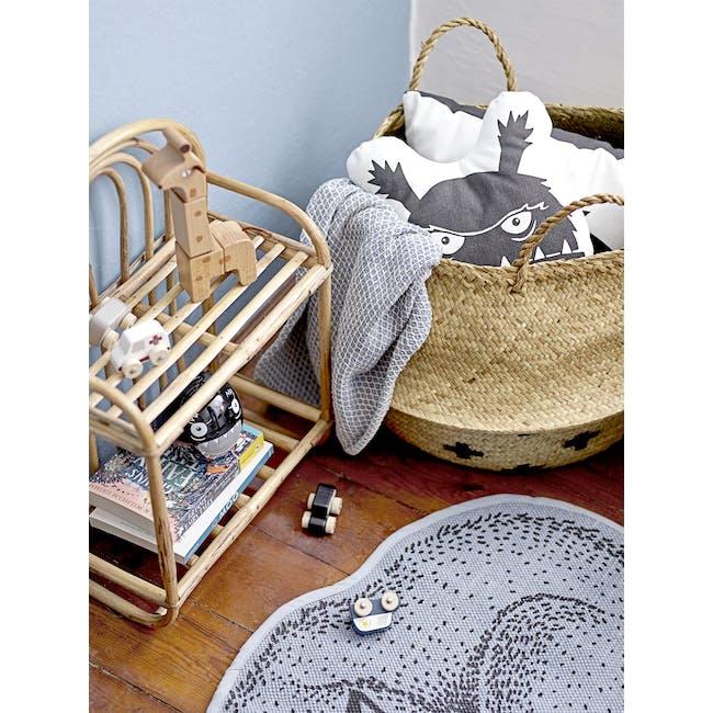Duncan Foldable Wicker Basket - Cross - 1
