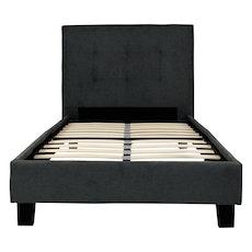 Oxford Headboard Bed - Dark Grey