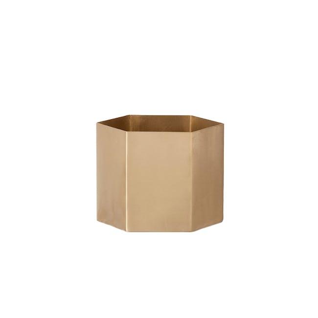 Logan Floor Planter - Brass - 2