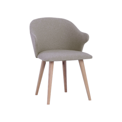 Runa Dining Arm Chair - Dolphin, Oak - Image 2