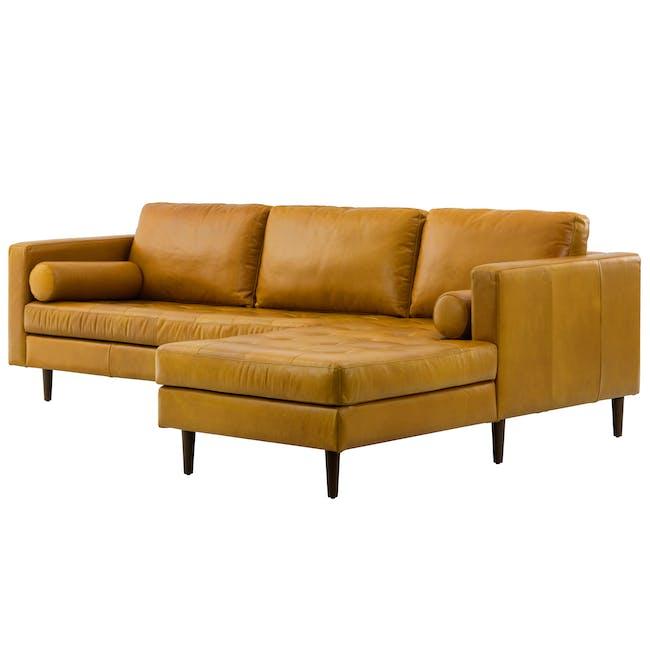 Nolan L-Shaped Sofa - Butterscotch (Premium Waxed Leather) - 2