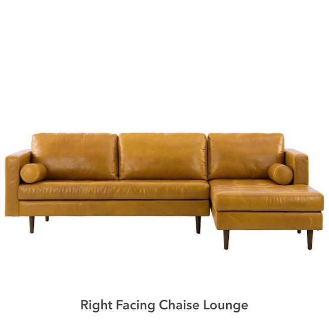 Nolan L-Shaped Sofa - Butterscotch (Premium Waxed Leather) - 7