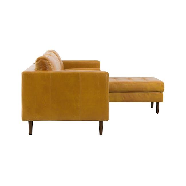 Nolan L-Shaped Sofa - Butterscotch (Premium Waxed Leather) - 4