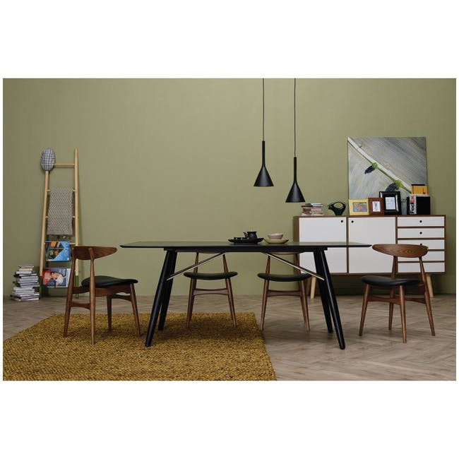 Tricia Dining Chair - Walnut, Espresso - 3