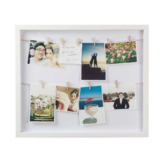 Clothesline Photo Display - White - 0