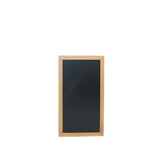 Securit Long Hard Wood Chalkboard - Lacquered Teak Frame (3 Sizes) - 0
