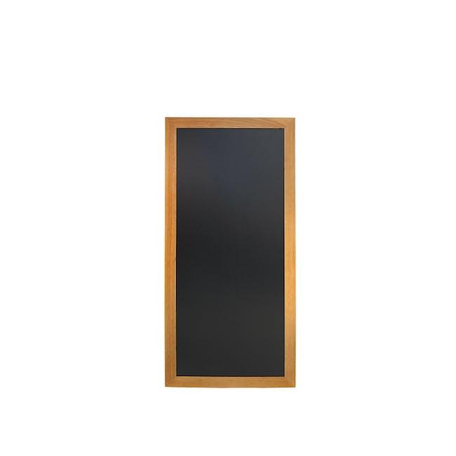 Securit Long Hard Wood Chalkboard - Lacquered Teak Frame (3 Sizes) - 2