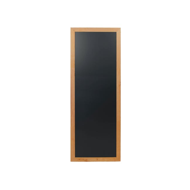 Securit Long Hard Wood Chalkboard - Lacquered Teak Frame (3 Sizes) - 1