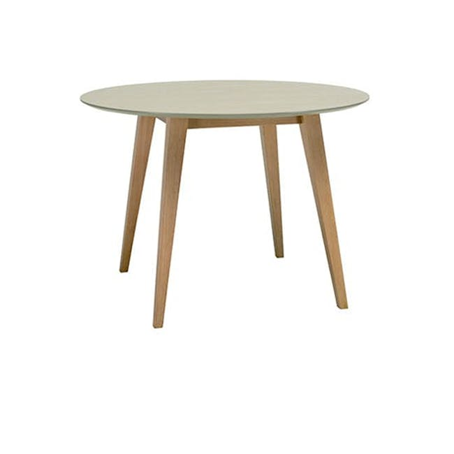 (As-is) Ralph Round Dining Table 1m - Natural, Taupe Grey - 3 - 0