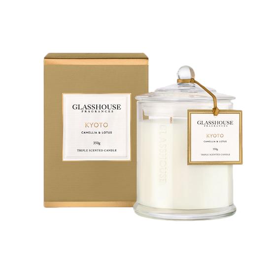 Glasshouse Fragrances - Kyoto Candle - Camellia & Lotus