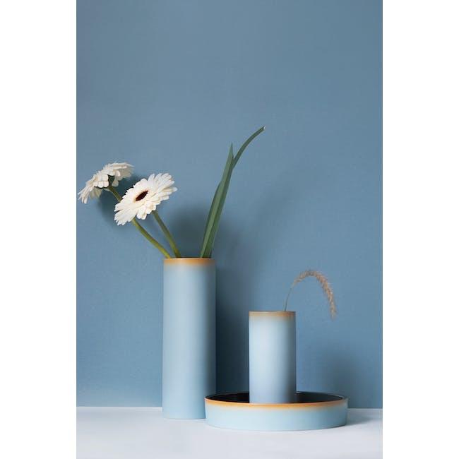 Tubular Short Vase 15 cm - Sky Blue - 1