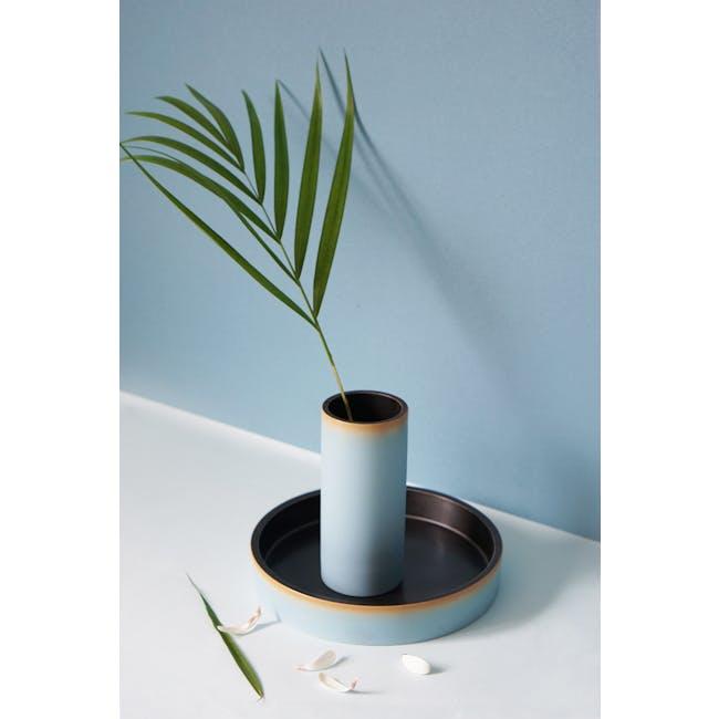 Tubular Short Vase 15 cm - Sky Blue - 2