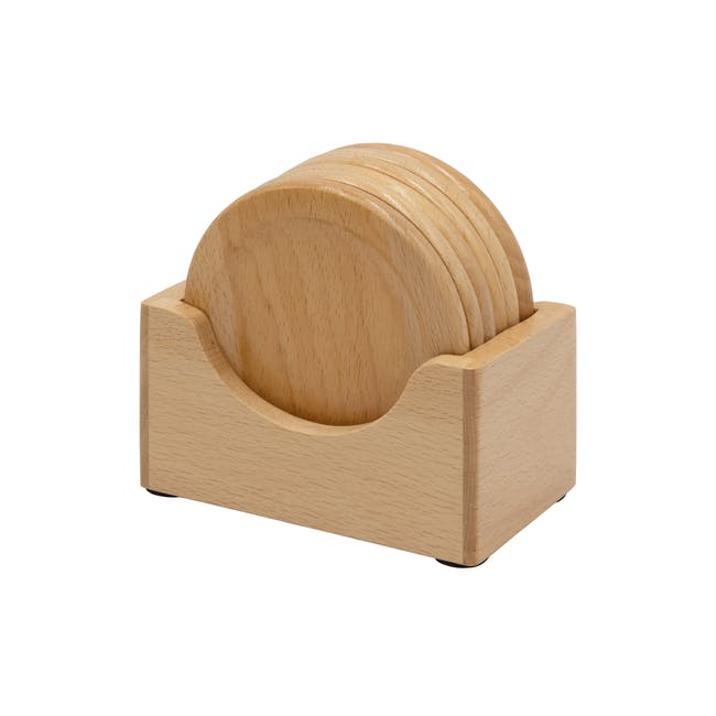 Dona Wooden Coaster (Set of 6) - 0