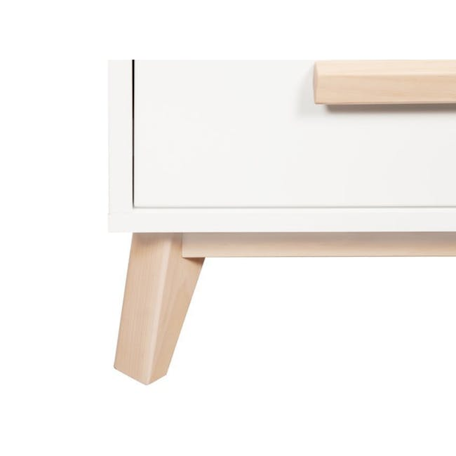 Babyletto Scoot 3-Drawer Dresser with Removable Changing Tray - White & Natural - 2