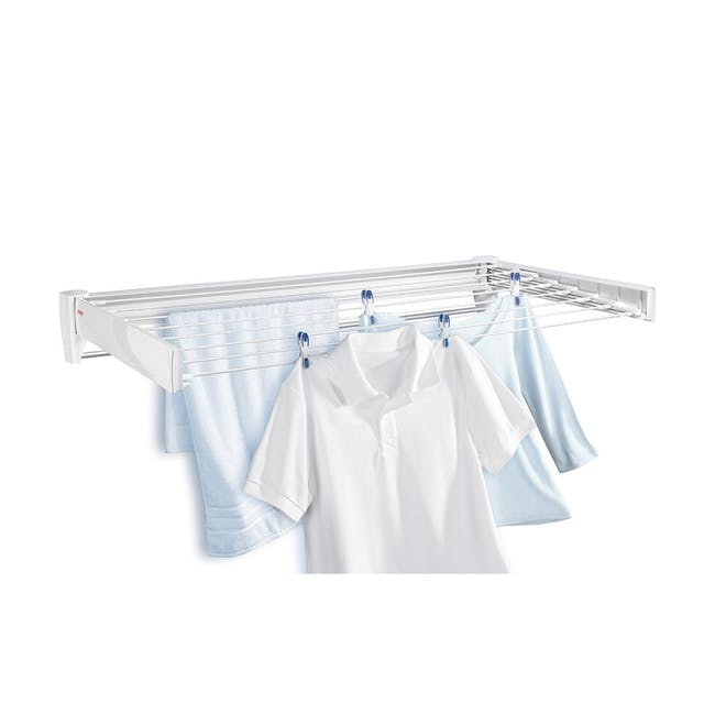 Leifheit Wall Clothes Dryer Telegant 81 Protect Plus Drying Rack - 0