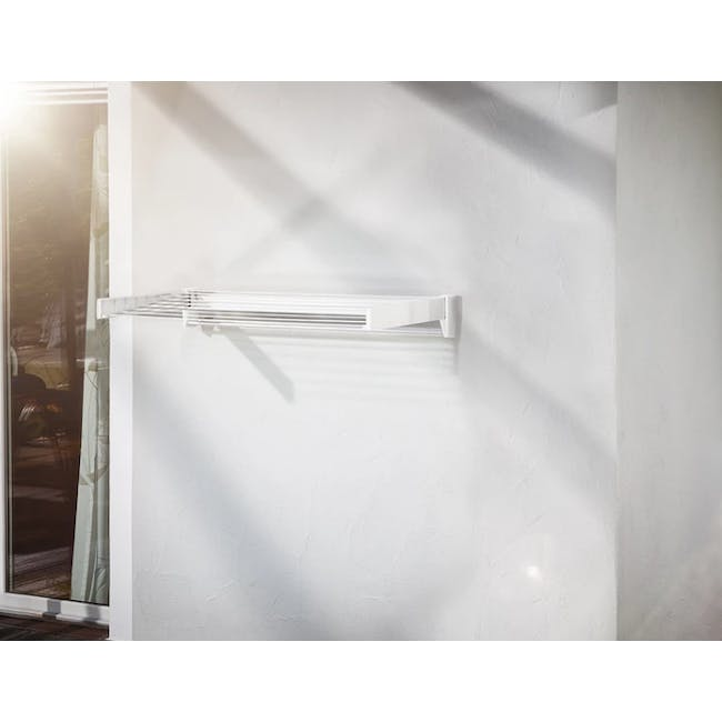 Leifheit Wall Clothes Dryer Telegant 81 Protect Plus Drying Rack - 1