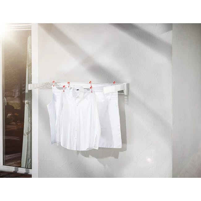 Leifheit Wall Clothes Dryer Telegant 81 Protect Plus Drying Rack - 2