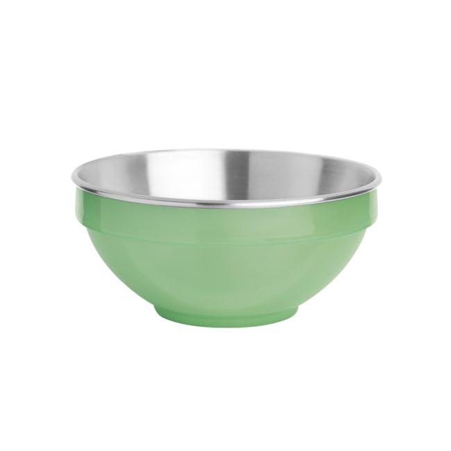 Zebra Stainless Steel Colour Bowl - Green (2 Sizes) - 0