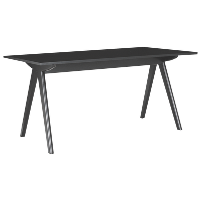 Aden 6 Seater Dining Table - Black, Black Laminate - Image 2