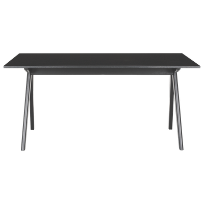 Aden 6 Seater Dining Table - Black, Black Laminate - Image 1