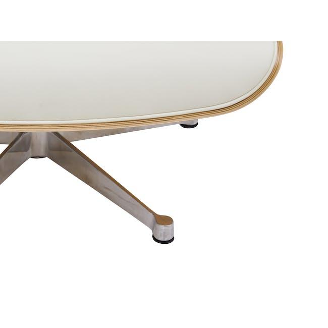 Eames Lounge Chair and Ottoman Replica - White (Genuine Cowhide) - 4