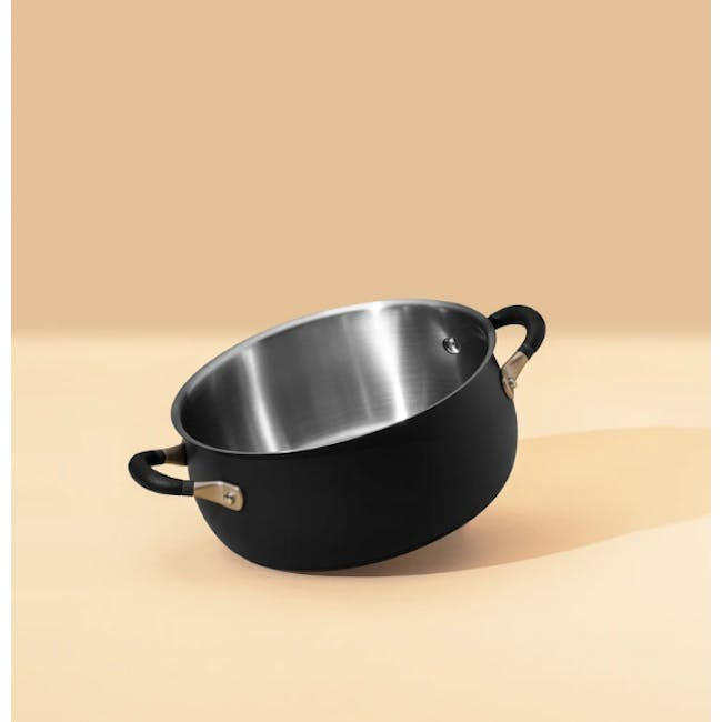 Meyer Accent Series Stainless Steel Casserole with Lid - 24cm 4.7L - 5