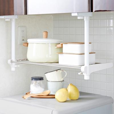 SingleTier Adjustable Kitchen Hanging Shelf - Image 1