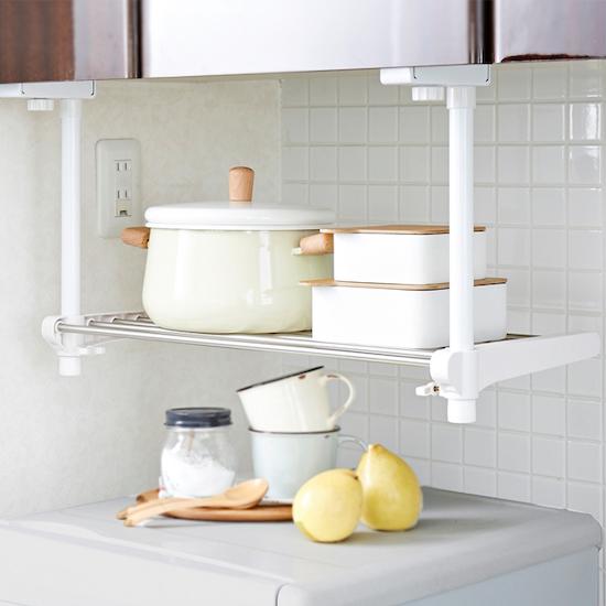 Heian Single Tier Adjustable Kitchen Hanging Shelf