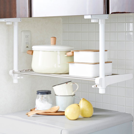 Single Tier Adjustable Kitchen Hanging Shelf