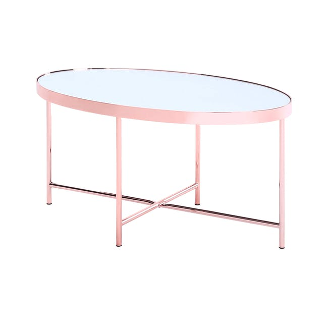 Xander Oval Coffee Table - Copper - 0