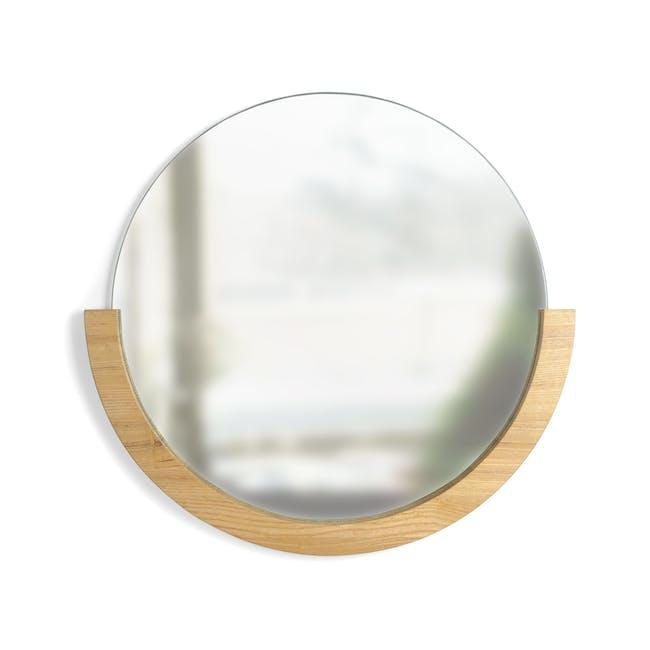 Mira Round Mirror 82 cm - Natural - 0