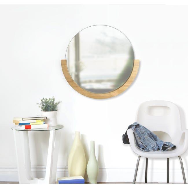Mira Round Mirror 82 cm - Natural - 5